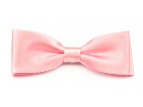 Dvojitý motýlek Avantgard s kapesníčkem - růžový