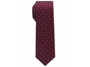 Úzká kravata Eterna - vínová