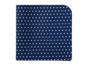 Kapesníček Avantgard LUX - modrý s bílými puntíky