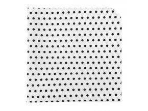 Kapesníček Avantgard LUX - bílý s černými puntíky
