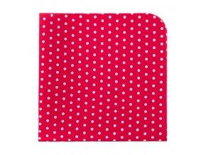 Kapesníček Avantgard LUX - červený s bílými puntíky