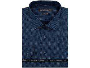 Luxusní bavlněná košile Lui Bentini Comfort fit - modrá