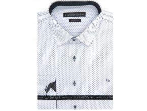 Luxusní bavlněná košile Lui Bentini Comfort fit Bílošedá