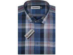 Flanelová košile AMJ Greed Comfort fit Modrá