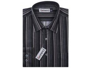 Manšestrová košile AMJ Greed Comfort fit Černošedá