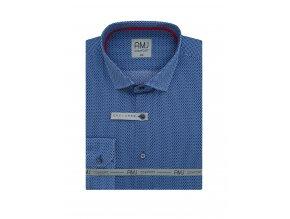 Pánská košile AMJ Slim fit Modrá