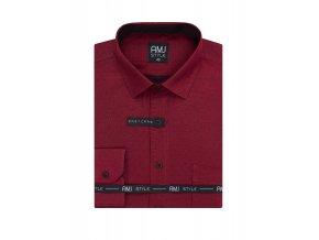 Pánská košile AMJ Slim fit Červená