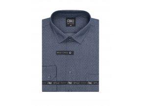 Pánská košile AMJ Comfort fit Modrá