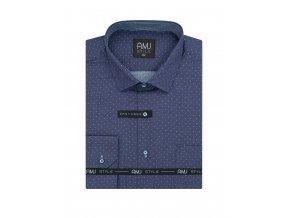 Pánská košile AMJ Comfort fit Fialová