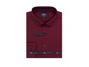 Pánská košile AMJ Comfort fit Červená