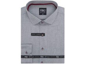 Pánská košile AMJ Comfort fit Šedá