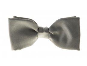 Vázací motýlek Brinkleys Classic - šedostříbrný
