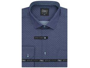Pánská košile AMJ Comfort fit Modrofialová
