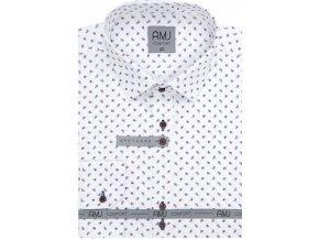 Pánská košile AMJ Comfort fit Bílá