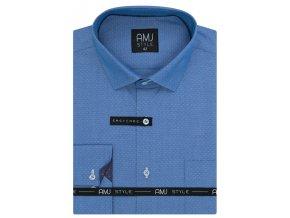 Pánská košile AMJ Slim fit - modrá