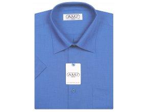 Pánská košile AMJ Comfort fit s krátkým rukávem - modrá