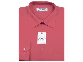 Pánská košile AMJ Comfort fit - malinová