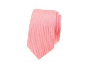 Úzká kravata Avantgard - lososová