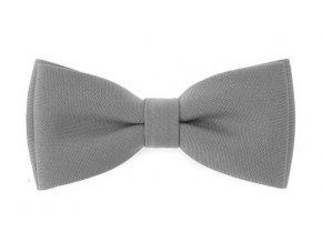 Dvojitý motýlek Avantgard s kapesníčkem - šedý