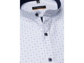 """Košile Eterna Slim Fit """"Print"""" Cool Shirt - Chladivá košile s módním stojáčkem Modrá"""