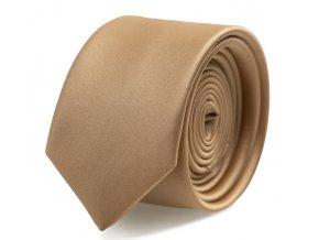 Slim kravata s kapesníčkem Brinkleys - lískový oříšek