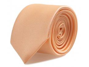 Úzká kravata s kapesníčkem Brinkleys - meruňková