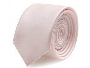 Slim kravata s kapesníčkem Brinkleys - růžová