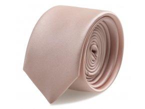 Slim kravata s kapesníčkem Brinkleys - pudrová