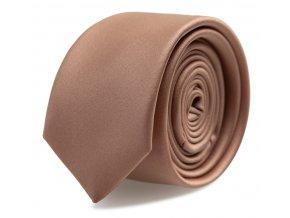 Slim kravata s kapesníčkem Brinkleys - tmavě pudrová