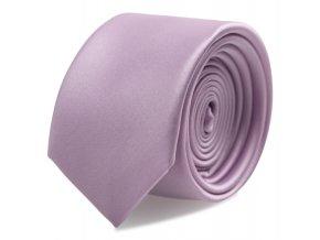 Úzká kravata s kapesníčkem Brinkleys - lila