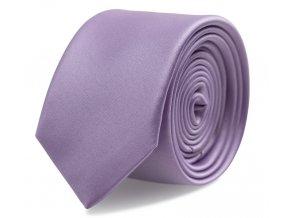 Slim kravata s kapesníčkem Brinkleys - šeříková