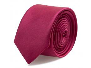 Slim kravata s kapesníčkem Brinkleys - sytě růžová