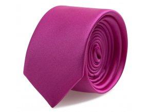 Slim kravata s kapesníčkem Brinkleys - fuchsie