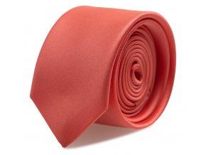Slim kravata s kapesníčkem Brinkleys - korálová