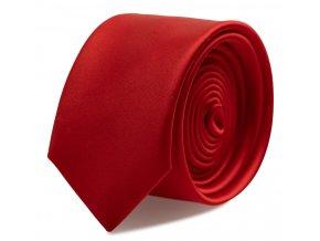 Slim kravata s kapesníčkem Brinkleys - červená