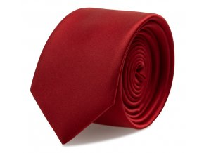 Slim kravata s kapesníčkem Brinkleys - vínová