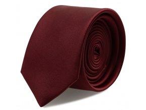 Úzká kravata s kapesníčkem Brinkleys - marsala