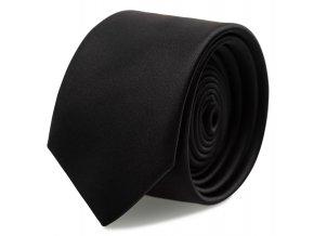 Slim kravata s kapesníčkem Brinkleys - černá