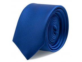 Úzká kravata s kapesníčkem Brinkleys - královská modrá