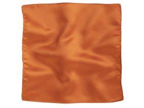 Klasický kapesníček do saka - oranžový