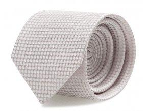Slim kravata s kapesníčkem Brinkleys - jemě růžová