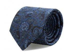 Slim kravata s kapesníčkem Brinkleys - modrá