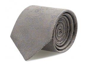 Úzká kravata s kapesníčkem Brinkleys - šedohnědá