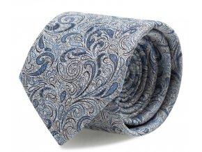 Kravata s kapesníčkem Brinkleys - modrošedá