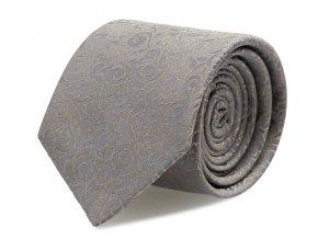 Kravata s kapesníčkem Brinkleys - šedohnědá