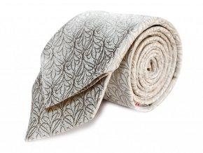 Kravata s kapesníčkem Brinkleys - stříbrnobílá