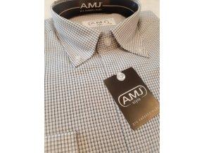 Košile AMJ Comfort fit Šedá s prodlouženým rukávem