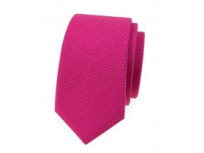 Úzká luxusní kravata Avantgard - fuchsiová