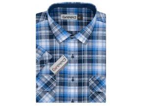 Košile AMJ Greed Comfort fit s krátkým rukávem Modrá
