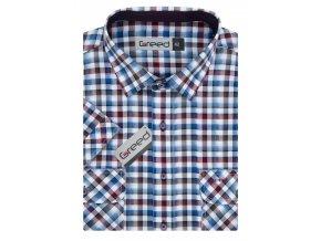 Košile AMJ Greed Comfort fit s krátkým rukávem - modrá